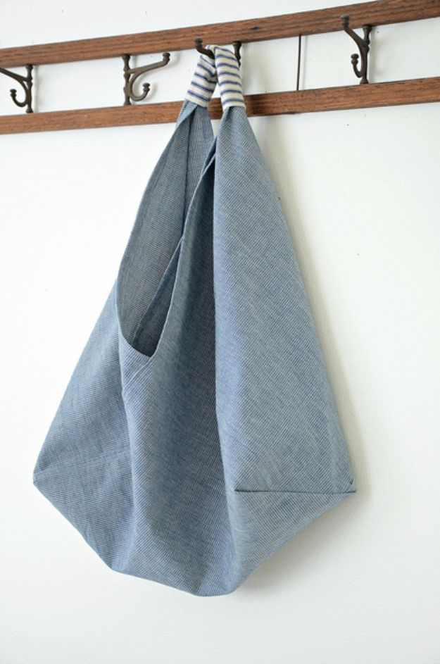 Sewing Projects to Make and Sell - Origami Market Bag - Easy Things to Sew and Sell on Etsy and Online Shops - DIY Sewing Crafts With Free Pattern and Tutorial