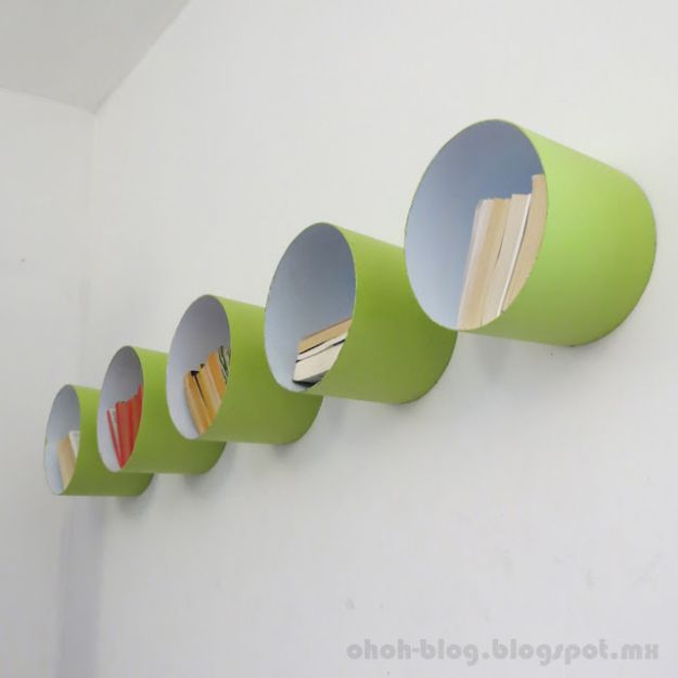 DIY Nursery Decor Ideas for Boys - Paint Bucket Shelves - Cute Blue Room Decorations for Baby Boy- Crib Bedding, Changing Table, Organization Idea, Furniture and Easy Wall Art