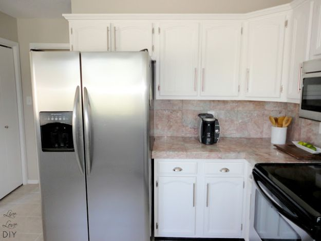 DIY Kitchen Cabinets - Painted Kitchen Cabinets The Easy Way - Makeover Ideas for Kitchen Cabinet - Build and Design Kitchen Cabinet Projects on A Budget - Cheap Reface Idea and Tutorial