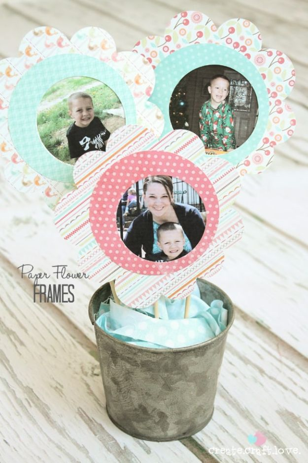 Fun DIY Ideas for Adults - Paper Flower Frames - Easy Crafts for Adults and Gift Ideas , Cool Projects That Are Fun to Make - Crafts Idea for Men and Women