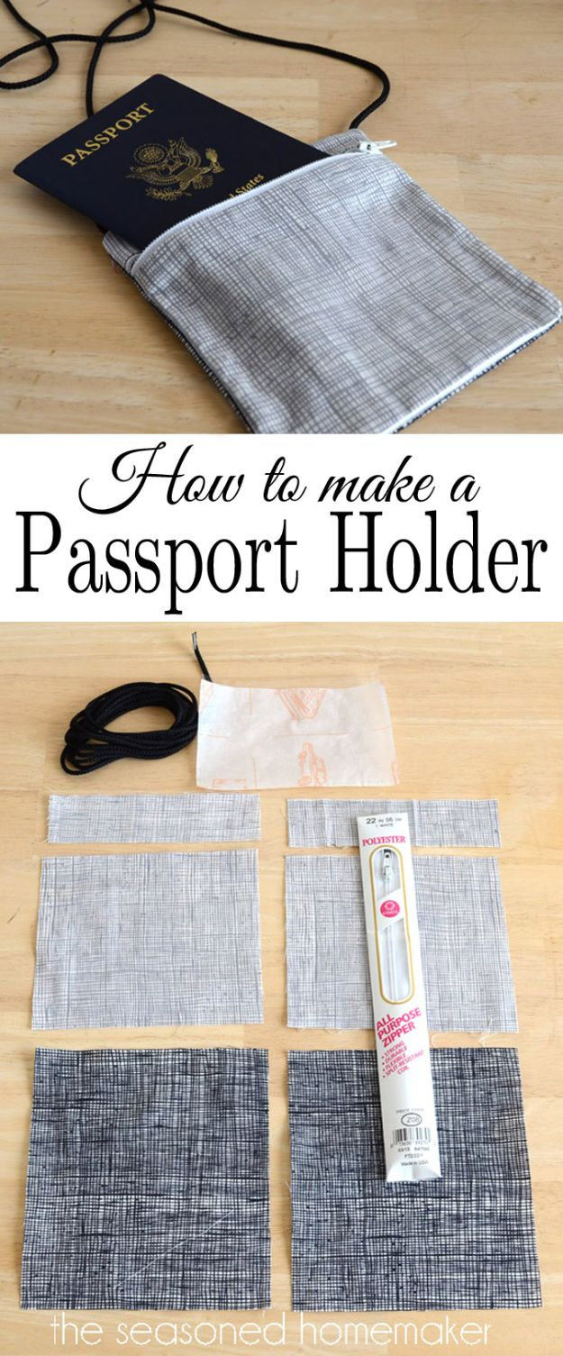 Sewing Projects for Fat Quarters - Passport Holder - Easy Ideas to Sew With a Fat Quarter - Quick DIY Gifts, Quilt, Placemats, DIY Baby Gift, Project for The Home, Kids, Christmas