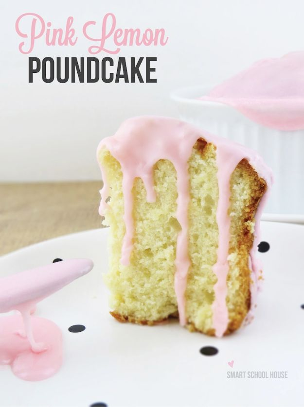 Baby Shower Cakes DIY - Pink Lemon Pound Cake - Easy Cake Recipes and Cupcakes to Make For Babies Showers - Ideas for Boys and Girls, Neutral, for Twins