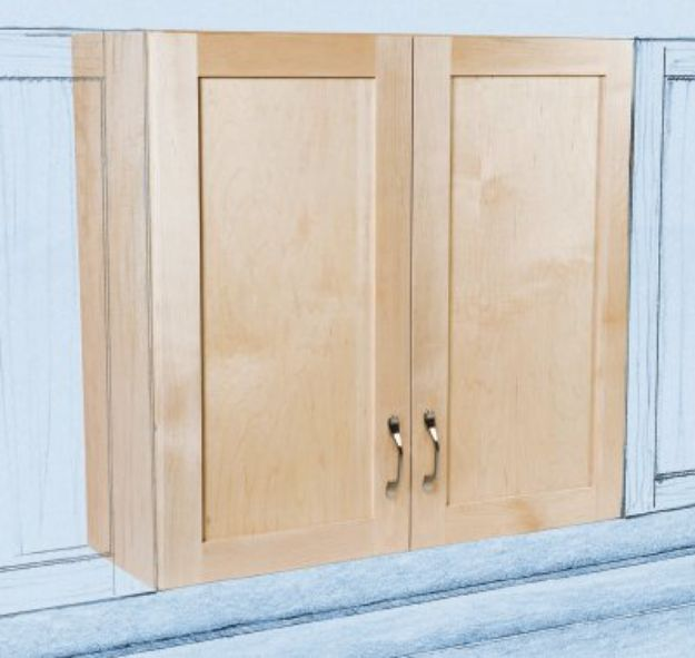 DIY Kitchen Cabinets - Plywood Upper Kitchen Cabinets - Makeover Ideas for Kitchen Cabinet - Build and Design Kitchen Cabinet Projects on A Budget - Cheap Reface Idea and Tutorial