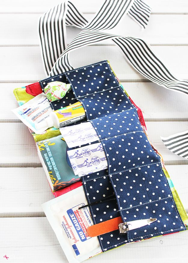 Sewing Projects to Make and Sell - Portable First Aid Kit - Easy Things to Sew and Sell on Etsy and Online Shops - DIY Sewing Crafts With Free Pattern and Tutorial