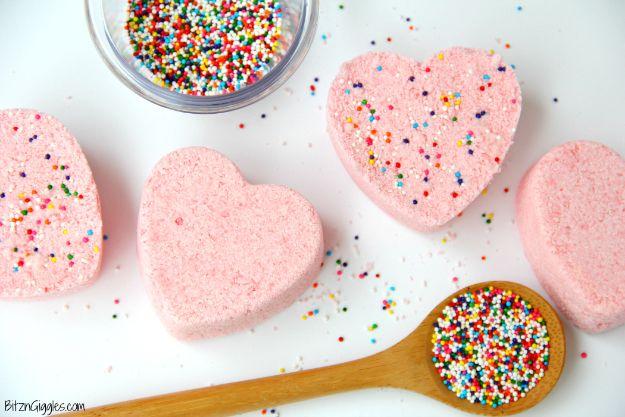 DIY Bath Bombs - Rainbow Sprinkle Bath Bombs - Easy DIY Bath Bomb Recipe Ideas - How to Make Bath Bombs at Home - Best Lush Copycats, Lavender, Glitter Homemade Bath Fizzies #bathbombs #diyideas