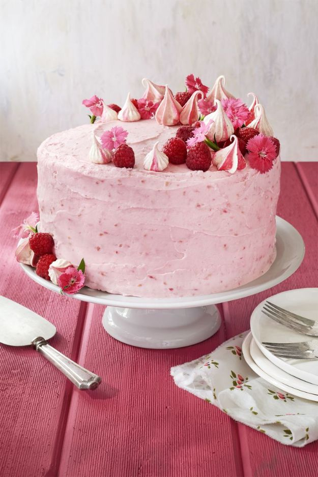 Baby Shower Cakes DIY - Raspberry Pink Velvet Cake with Raspberry Cream Cheese Frosting - Easy Cake Recipes and Cupcakes to Make For Babies Showers - Ideas for Boys and Girls, Neutral, for Twins