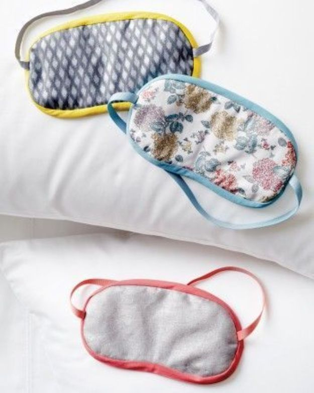 Sewing Projects to Make and Sell - Sew a Simple Sleep Mask - Easy Things to Sew and Sell on Etsy and Online Shops - DIY Sewing Crafts With Free Pattern and Tutorial