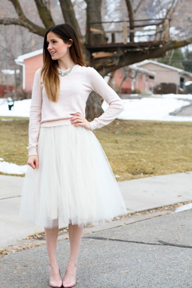 Sewing Projects to Make and Sell - Simple Tulle Skirt - Easy Things to Sew and Sell on Etsy and Online Shops - DIY Sewing Crafts With Free Pattern and Tutorial