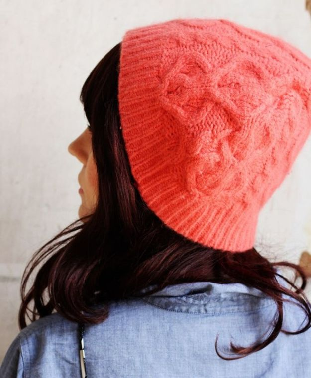 Sewing Projects to Make and Sell - Sweater Beanie - Easy Things to Sew and Sell on Etsy and Online Shops - DIY Sewing Crafts With Free Pattern and Tutorial