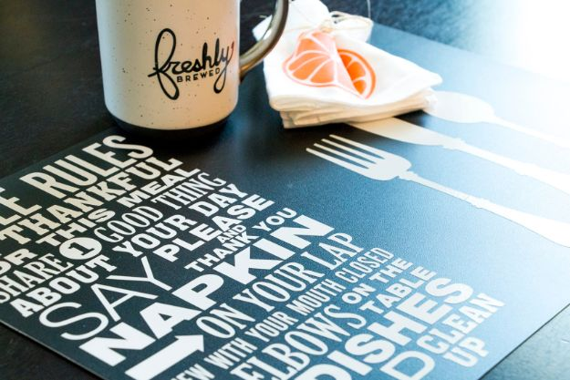 Fun DIY Ideas for Adults - Table Rules Placemats - Easy Crafts and Gift Ideas , Cool Projects That Are Fun to Make - Crafts Idea for Men and Women