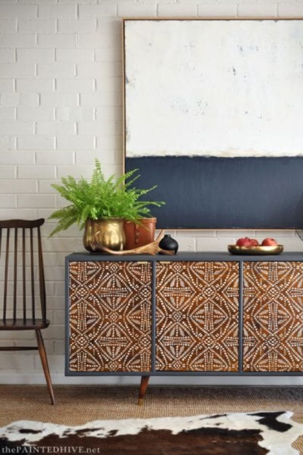 DIY Bedroom Decor Ideas - Tribal Sideboard - Easy Room Decor Projects for The Home - Cheap Farmhouse Crafts, Wall Art Idea, Bed and Bedding, Furniture