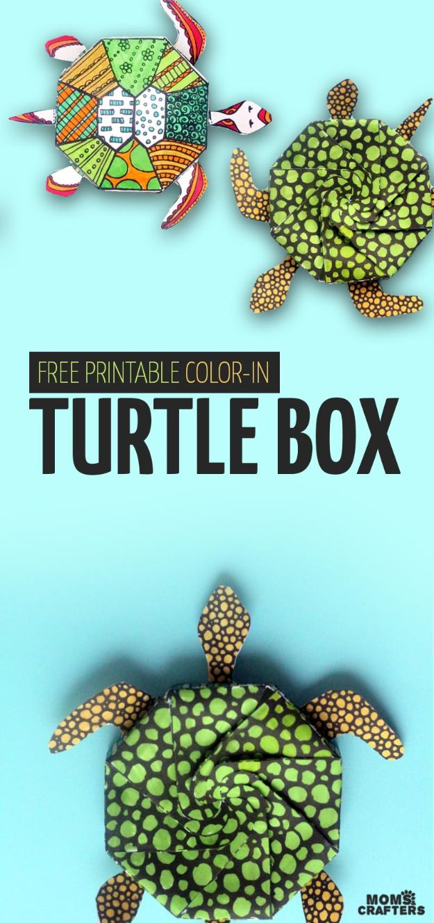 Fun DIY Ideas for Adults - Turtle Template Coloring Page for Adults - Easy Crafts and Gift Ideas , Cool Projects That Are Fun to Make - Crafts Idea for Men and Women