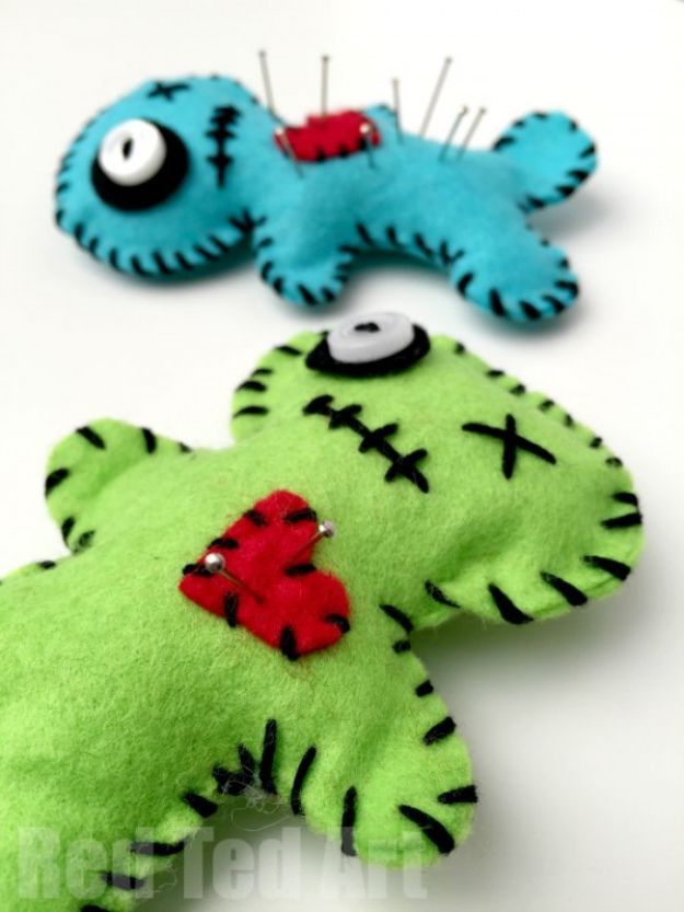 Sewing Projects to Make and Sell - Voodoo Doll Pincushion - Easy Things to Sew and Sell on Etsy and Online Shops - DIY Sewing Crafts With Free Pattern and Tutorial