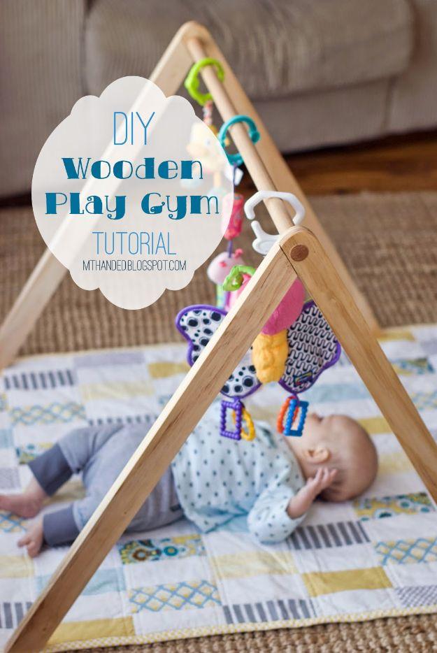 DIY Nursery Decor Ideas for Boys - Wooden Baby Gym - Cute Blue Room Decorations for Baby Boy- Crib Bedding, Changing Table, Organization Idea, Furniture and Easy Wall Art