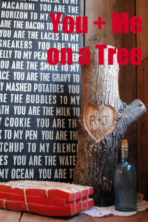 DIY Gifts for Him - You + Me on a Tree - Homemade Gift Ideas for Guys - DYI Christmas Gift for Dad, Boyfriend, Husband Brother - Easy and Cheap Handmade Presents Birthday https://diyjoy.com/diy-gifts-for-him