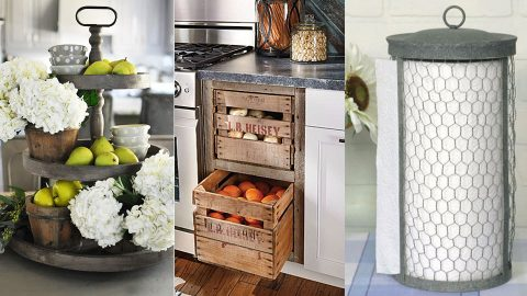 31 DIY Farmhouse Decor Ideas For The Kitchen | DIY Joy Projects and Crafts Ideas