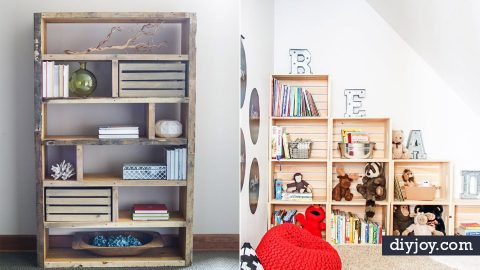 34 DIY Bookshelf Ideas | DIY Joy Projects and Crafts Ideas