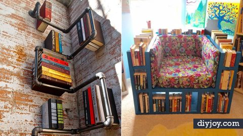 34 DIY Home Decor Ideas for Bookshelves | DIY Joy Projects and Crafts Ideas