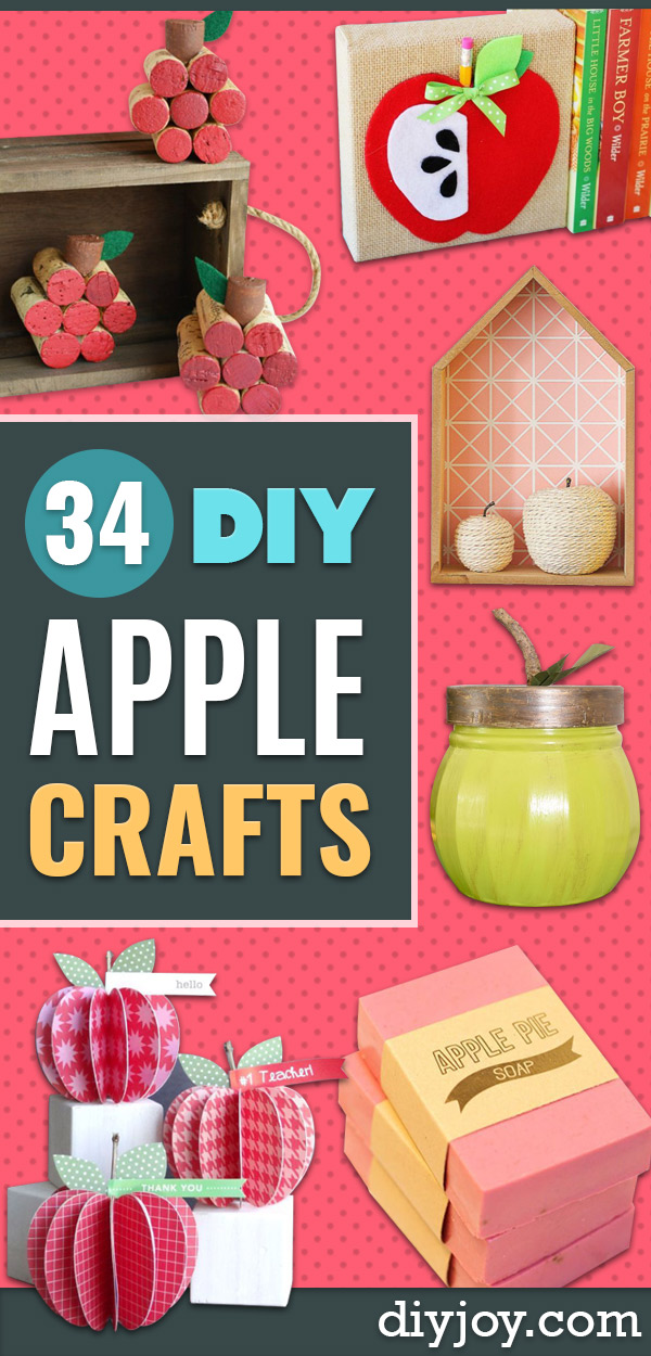 DIY Apple Crafts | Cute and Easy DIY Ideas With Apples - Painting, Mason Jars, Home Decor