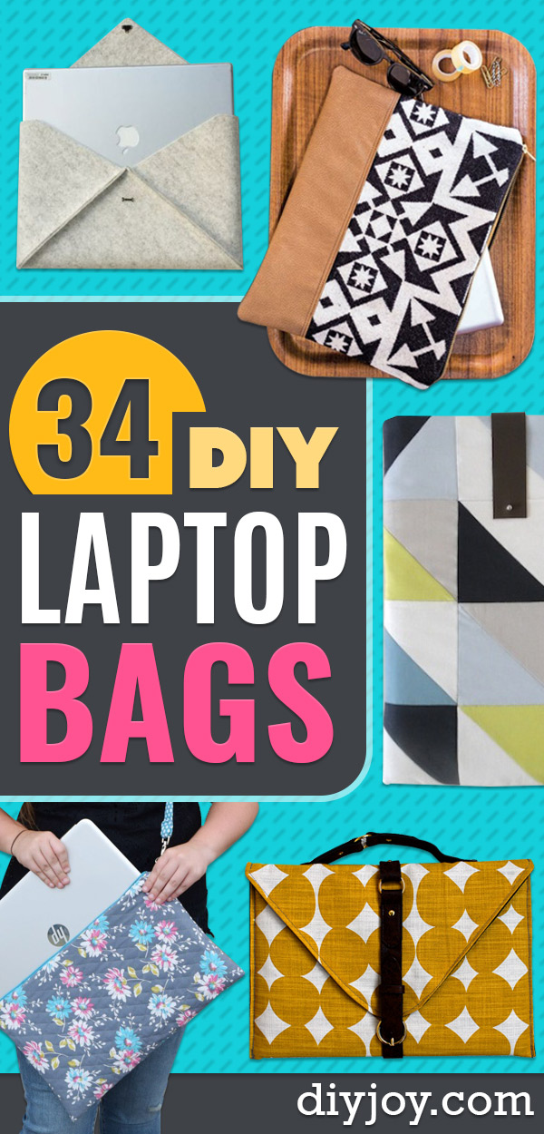 DIY Laptop Bags - Easy Bag Projects to Make For Your Computer - Cool and Cheap Homemade Messnger Bags, Cases for Laptops - Shoulder Bag and Briefcase, Backpack