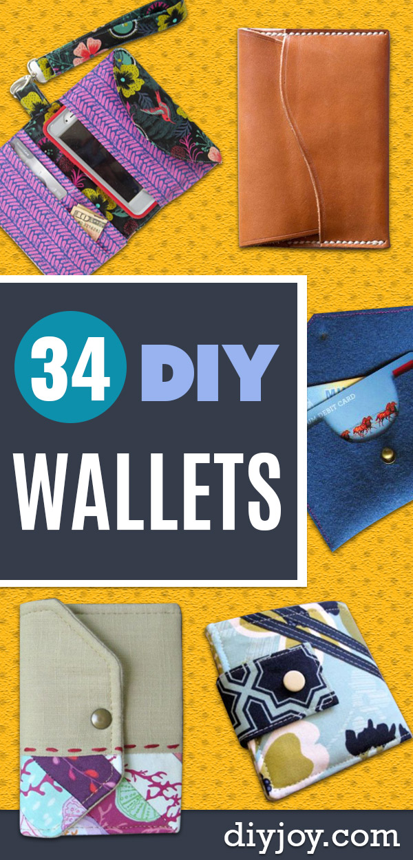 DIY Wallets - DIY Leather Business Card Wallet - Cool and Easy DIY Wallet Ideas - Fabric, Duct Tape and Leather Crafts - Tutorial and Instructions for Making A Wallet - Cheap DIY Gifts