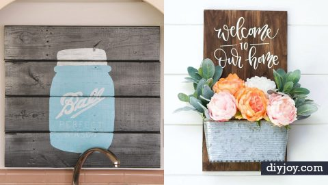 50 DIY Signs To Make for Your Home | DIY Joy Projects and Crafts Ideas