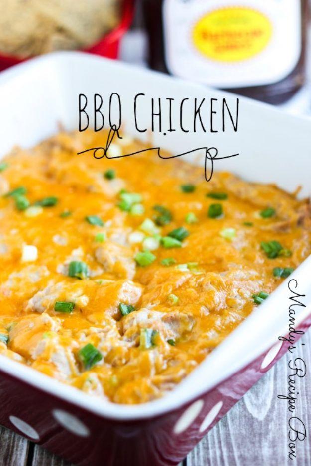 Potluck Recipe Ideas - BBQ Chicken Dip - Easy Recipes to Take To Potlucks - Dinner Casseroles, Salads, One Pot Meals, Pasta Dishes, Quick Crockpot Recipes