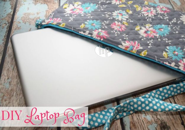 DIY Laptop Bags - Back to School DIY Laptop Bag - Easy Bag Projects to Make For Your Computer - Cool and Cheap Homemade Messnger Bags, Cases for Laptops - Shoulder Bag and Briefcase, Backpack