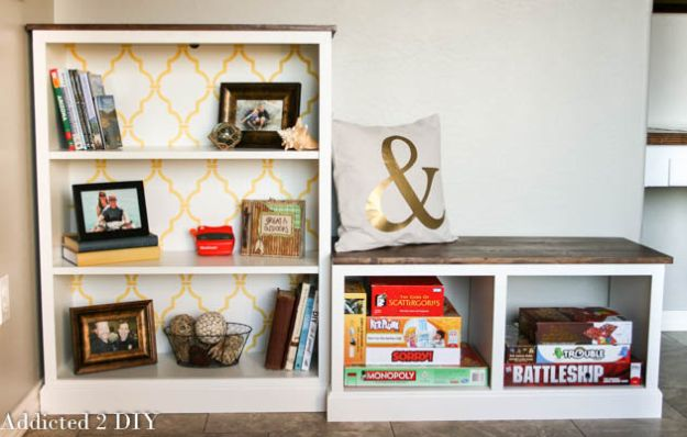DIY Bookshelf Ideas - Billy Bookcase IKEA Hack - DYI Bookshelves and Projects - Easy and Cheap Home Decor Idea for Bedroom, Living Room - Step by Step tutorial #diy #diyideas #diydecor #homedecor