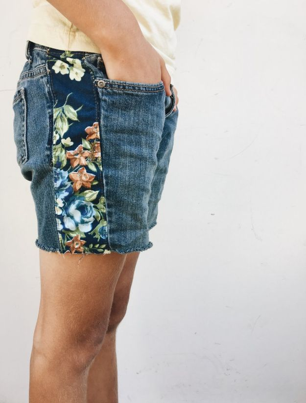 DIY Boho Clothes and Jewelry - Boho Inspired Jean Cutoff Shorts - How to Make Easy Boho Fashion On A Budget - Edgy Homemade Hippe Clothing Ideas for Summer, Winter, Spring and Fall