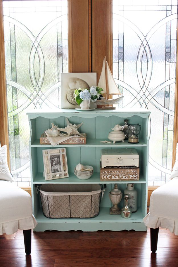 DIY Bookshelf Ideas - Bookcase Makeover and DYI Furniture Makeovers - DYI Bookshelves and Projects - Easy and Cheap Home Decor Idea for Bedroom, Living Room