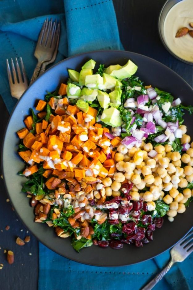 Recipes for Clean Eating - Chopped Kale Power Salad - Raw and Whole Foods, Unprocessed Meal and Snack Ideas for Lunch and Dinner - Fresh, Healthy Foods and Recipe Ideas