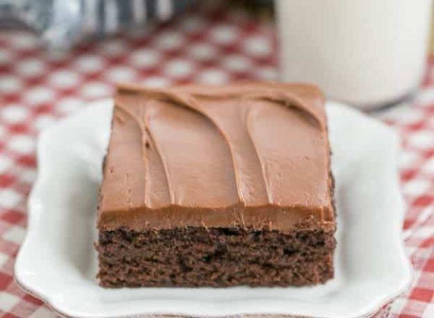 Potluck Recipe Ideas - Cocoa Fudge Cake - Easy Recipes to Take To Potlucks - Dinner Casseroles, Salads, One Pot Meals, Pasta Dishes, Quick Crockpot Recipes