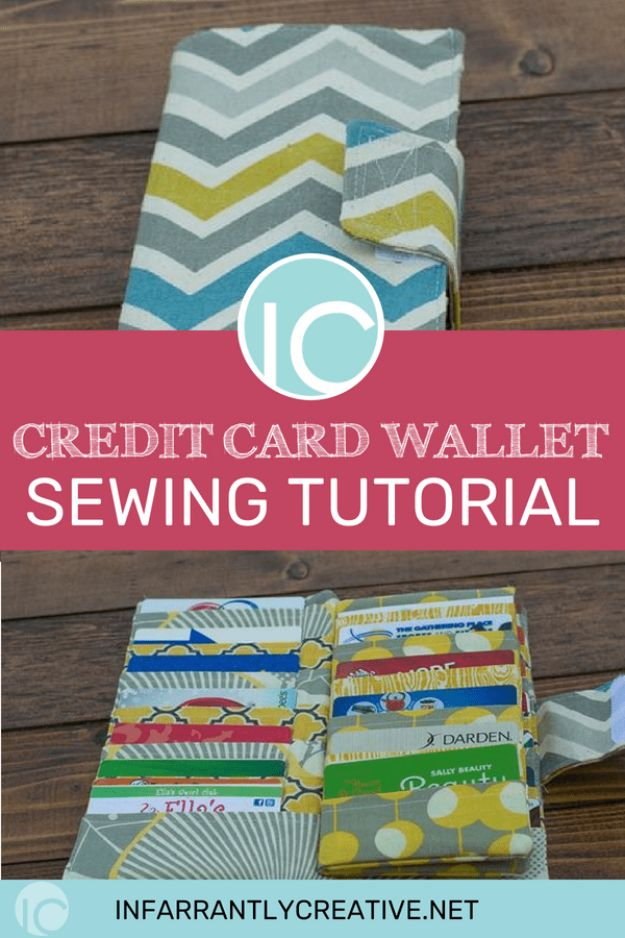 DIY Wallets - Credit Card Wallet - Cool and Easy DIY Wallet Ideas - Fabric, Duct Tape and Leather Crafts - Tutorial and Instructions for Making A Wallet - Cheap DIY Gifts
