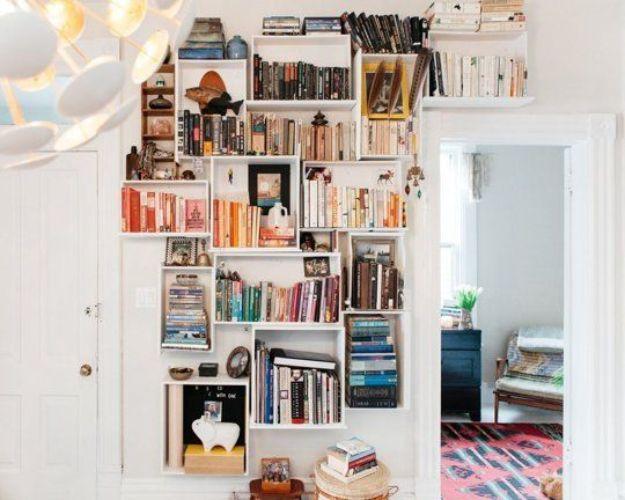 DIY Bookshelf Ideas - Customizable DIY Dresser Drawer Bookshelf - DYI Bookshelves and Projects - Easy and Cheap Home Decor Idea for Bedroom, Living Room - Step by Step tutorial #diy #diyideas #diydecor #homedecor