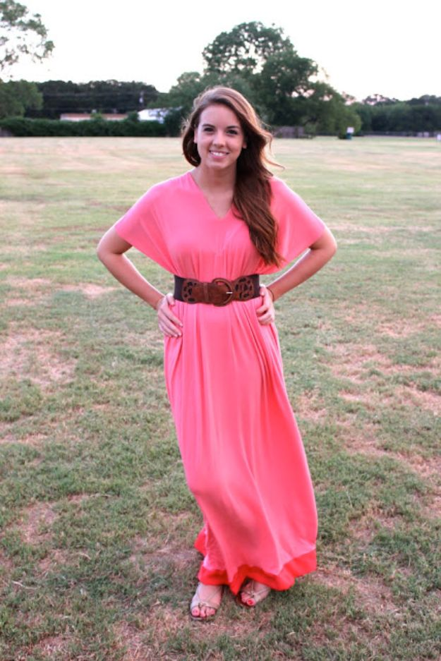 DIY Boho Clothes and Jewelry - DIY Boho Maxi Dress - How to Make Easy Boho Fashion On A Budget - Edgy Homemade Hippe Clothing Ideas for Summer, Winter, Spring and Fall