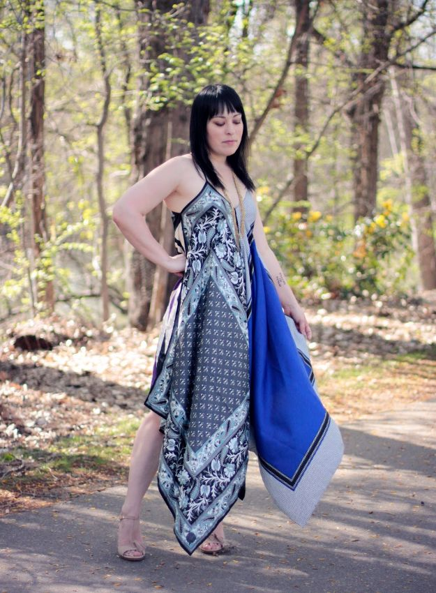 DIY Boho Clothes and Jewelry - DIY Boho Scarf Dress - How to Make Easy Boho Fashion On A Budget - Edgy Homemade Hippe Clothing Ideas for Summer, Winter, Spring and Fall