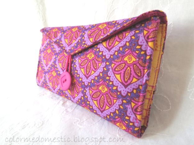 DIY Wallets - DIY Fabric Wallet - Cool and Easy DIY Wallet Ideas - Fabric, Duct Tape and Leather Crafts - Tutorial and Instructions for Making A Wallet - Cheap DIY Gifts