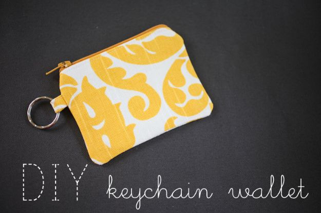 DIY Wallets - DIY Keychain Wallet - Cool and Easy DIY Wallet Ideas - Fabric, Duct Tape and Leather Crafts - Tutorial and Instructions for Making A Wallet - Cheap DIY Gifts