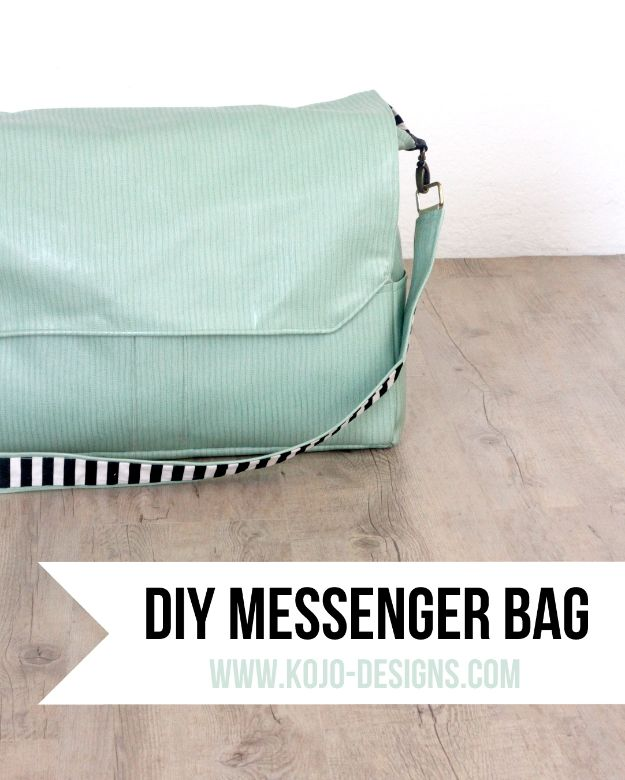 DIY Laptop Bags - DIY Messenger Bag - Easy Bag Projects to Make For Your Computer - Cool and Cheap Homemade Messnger Bags, Cases for Laptops - Shoulder Bag and Briefcase, Backpack