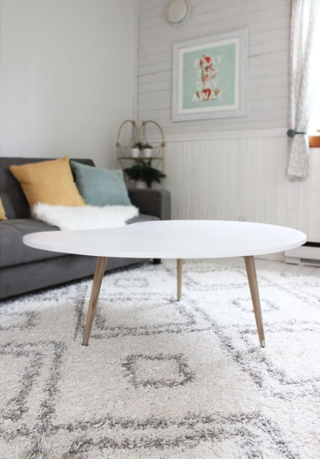 DIY Midcentury Modern Decor Ideas - DIY Mid-Century Coffee Table - DYI Mid Centurty Modern Furniture and Home Decorations - Chairs, Sofa, Wall Art , Shelves, Bedroom and Living Room