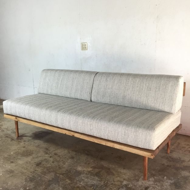 DIY Midcentury Modern Decor Ideas - DIY Mid-Century Modern Sofa - DYI Mid Centurty Modern Furniture and Home Decorations - Chairs, Sofa, Wall Art , Shelves, Bedroom and Living Room