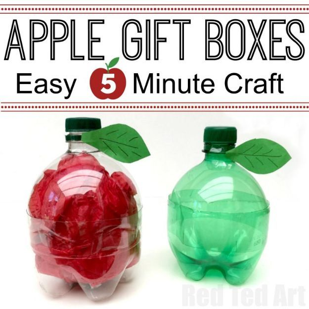 DIY Apple Crafts | DIY Plastic Bottle Apple - Cute and Easy DIY Ideas With Apples - Painting, Mason Jars, Home Decor