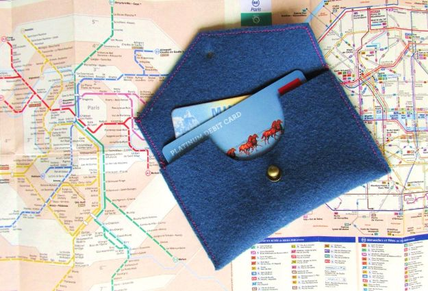 DIY Wallets - DIY Travel Wallet - Cool and Easy DIY Wallet Ideas - Fabric, Duct Tape and Leather Crafts - Tutorial and Instructions for Making A Wallet - Cheap DIY Gifts