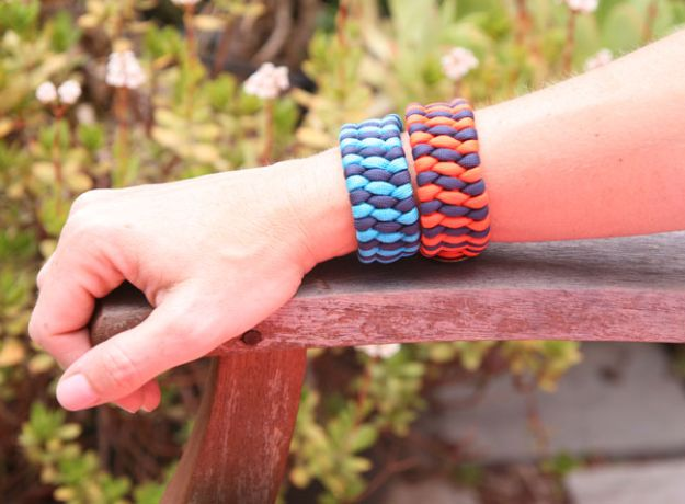 DIY Paracord Bracelet Ideas - DIY Woven Cuff Paracord Bracelet - Tutorials for Easy Woven Paracord Bracelets   Survival and Stitched Patterns With Instructions and How To