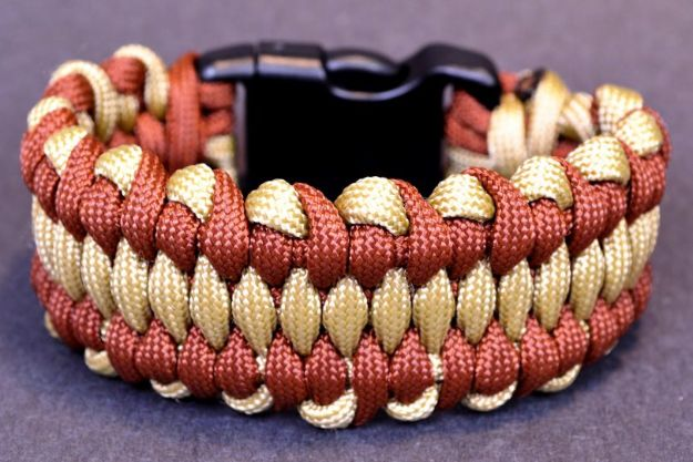 DIY Paracord Bracelet Ideas - Dragon's Tongue Paracord Bracelet - Tutorials for Easy Woven Paracord Bracelets | Survival and Stitched Patterns With Instructions and How To