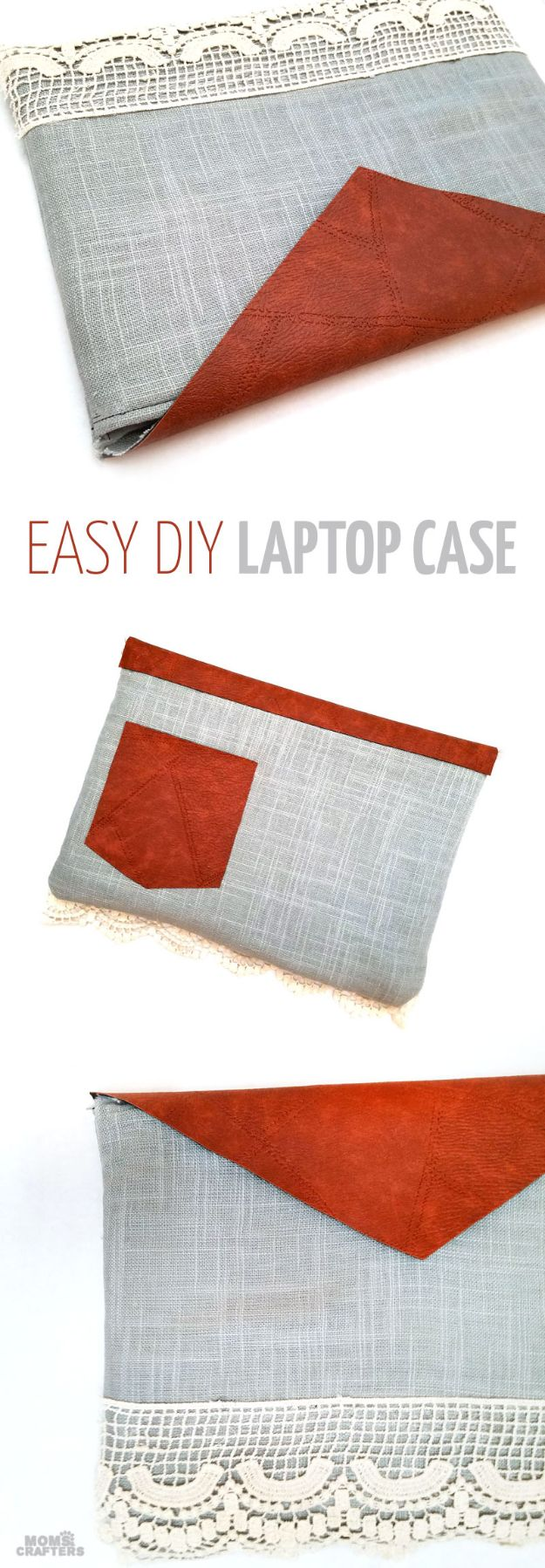DIY Laptop Bags - Easy DIY Laptop Case - Easy Bag Projects to Make For Your Computer - Cool and Cheap Homemade Messnger Bags, Cases for Laptops - Shoulder Bag and Briefcase, Backpack