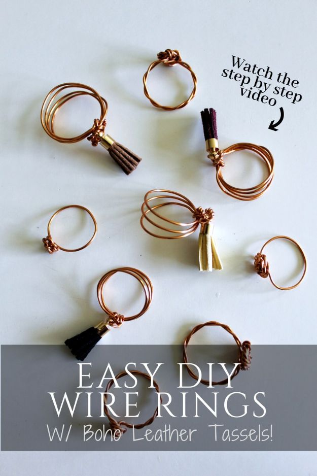 DIY Boho Clothes and Jewelry - Easy DIY Ring with Tassels - How to Make Easy Boho Fashion On A Budget - Edgy Homemade Hippe Clothing Ideas for Summer, Winter, Spring and Fall