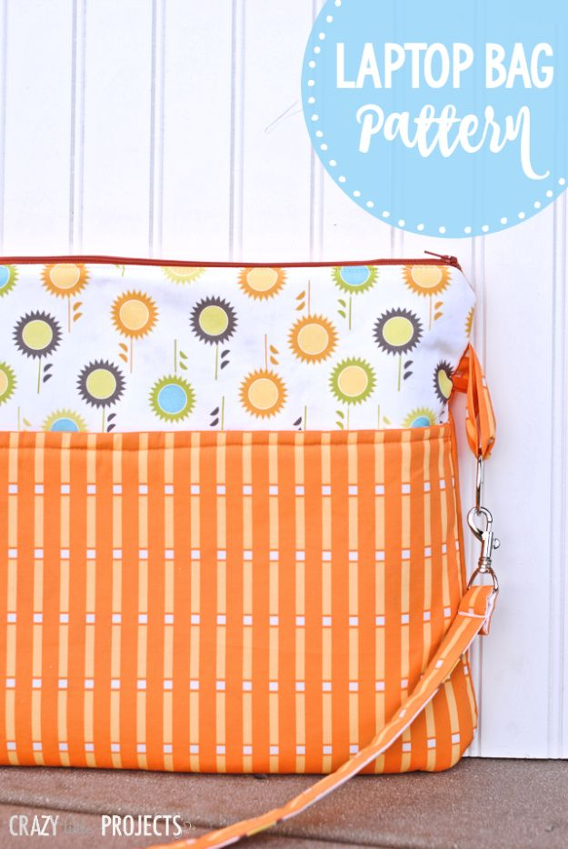 DIY Laptop Bags - Easy Laptop Bag - Easy Bag Projects to Make For Your Computer - Cool and Cheap Homemade Messnger Bags, Cases for Laptops - Shoulder Bag and Briefcase, Backpack