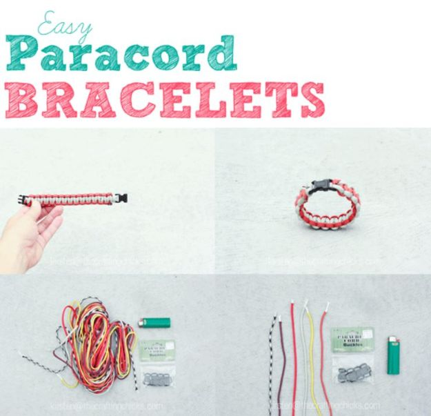 DIY Paracord Bracelet Ideas - Easy Paracord Bracelets - Tutorials for Easy Woven Paracord Bracelets   Survival and Stitched Patterns With Instructions and How To